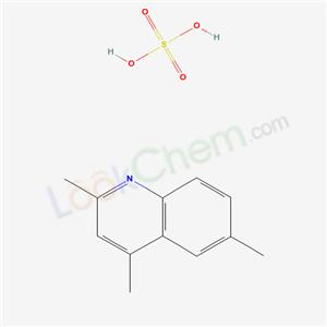 Molecular Structure of 49722-76-1 (sulfuric acid; 2,4,6-trimethylquinoline)