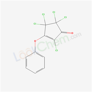 18242-50-7,2,4,4,5,5-pentachloro-3-phenoxy-cyclopent-2-en-1-one,