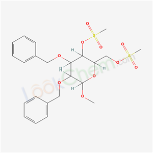 55570-13-3,2-methoxy-5-methylsulfonyloxy-6-(methylsulfonyloxymethyl)-3,4-bis(phenylmethoxy)oxane,