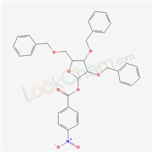 81025-70-9,[3,4-bis(phenylmethoxy)-5-(phenylmethoxymethyl)oxolan-2-yl] 4-nitrobenzoate,