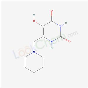 5753-19-5,5-hydroxy-6-(1-piperidylmethyl)-1H-pyrimidine-2,4-dione,