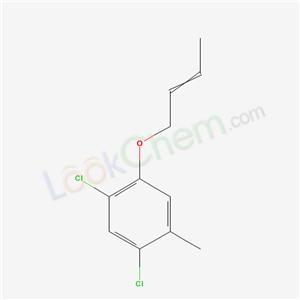 6834-64-6,1-but-2-enoxy-2,4-dichloro-5-methyl-benzene,
