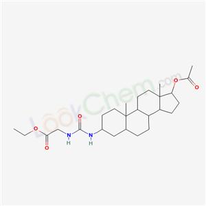 5831-00-5,[3-(ethoxycarbonylmethylcarbamoylamino)-10,13-dimethyl-2,3,4,5,6,7,8,9,11,12,14,15,16,17-tetradecahydro-1H-cyclopenta[a]phenanthren-17-yl] acetate,
