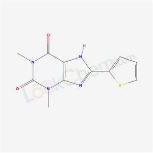 33797-75-0,1,3-dimethyl-8-thiophen-2-yl-7H-purine-2,6-dione,