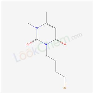 63594-12-7,3-(4-bromobutyl)-1,6-dimethyl-pyrimidine-2,4-dione,
