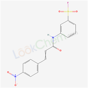 19160-19-1,3-[3-(4-nitrophenyl)prop-2-enoylamino]benzenesulfonyl fluoride,