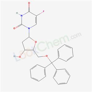 10343-71-2,5-fluoro-1-[4-hydroxy-5-(trityloxymethyl)oxolan-2-yl]pyrimidine-2,4-dione,