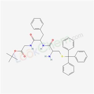 47856-54-2,tert-butyl 2-[[2-[(2-amino-3-tritylsulfanyl-propanoyl)amino]-3-phenyl-propanoyl]amino]acetate,