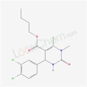 5713-78-0,butyl 4-(3,4-dichlorophenyl)-1,6-dimethyl-2-oxo-3,4-dihydropyrimidine-5-carboxylate,