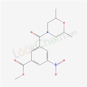 5735-73-9,methyl 3-(2,6-dimethylmorpholine-4-carbonyl)-5-nitro-benzoate,