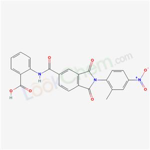 5751-09-7,2-[[2-(2-methyl-4-nitro-phenyl)-1,3-dioxo-isoindole-5-carbonyl]amino]benzoic acid,