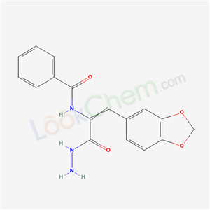 19746-83-9,N-[2-benzo[1,3]dioxol-5-yl-1-(hydrazinecarbonyl)ethenyl]benzamide,