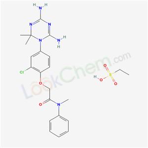 50507-88-5,2-[2-chloro-4-(4,6-diamino-2,2-dimethyl-1,3,5-triazin-1-yl)phenoxy]-N-methyl-N-phenyl-acetamide; ethanesulfonic acid,