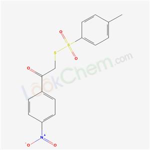 31377-99-8,S-(2-(4-(Hydroxy(oxido)amino)phenyl)-2-oxoethyl) 4-methylbenzenesulfonothioate,
