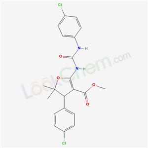 21863-92-3,methyl 4-(4-chlorophenyl)-2-[(4-chlorophenyl)carbamoylamino]-5,5-dimethyl-4H-furan-3-carboxylate,