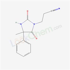 19282-98-5,3-(4-methyl-2,5-dioxo-4-phenyl-imidazolidin-1-yl)propanenitrile,
