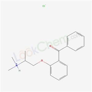 7347-83-3,BENZOPHENONE, 2-(2-(DIMETHYLAMINO)PROPOXY)-, HYDROCHLORIDE,
