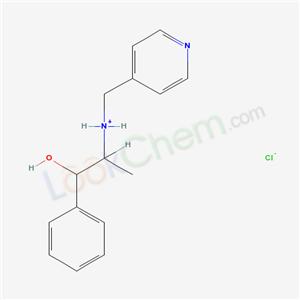 13695-13-1,BENZYL ALCOHOL, alpha-(1-((4-PYRIDYLMETHYL)AMINO)ETHYL)-, HYDROCHLORIDE,