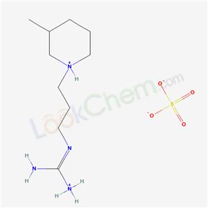 14156-65-1,[N-[3-(3-methyl-3,4,5,6-tetrahydro-2H-pyridin-1-yl)propyl]carbamimidoyl]azanium sulfate,