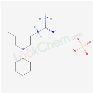 Molecular Structure of 14156-84-4 (1-(2-(N-Propylcyclohexylamino)ethyl)guanidine sulfate hydrate)