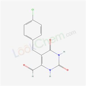 21328-03-0,5-[(4-chlorophenyl)methyl]-2,6-dioxo-3H-pyrimidine-4-carbaldehyde,