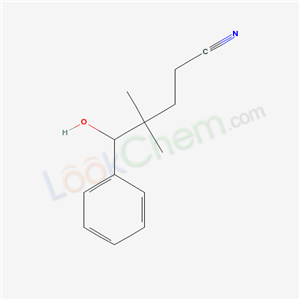 20633-33-4,5-hydroxy-4,4-dimethyl-5-phenyl-pentanenitrile,