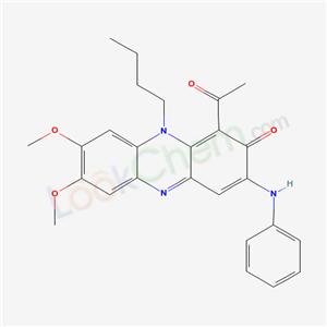 53486-15-0,1-acetyl-3-anilino-10-butyl-7,8-dimethoxy-phenazin-2-one,