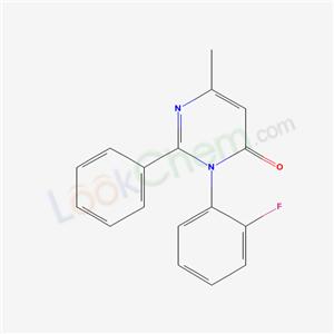 89069-74-9,3-(2-Fluorophenyl)-6-methyl-2-phenyl-4(3H)-pyrimidinone,