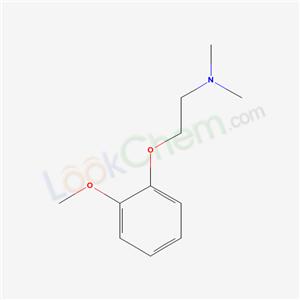 7061-64-5,2-(2-methoxyphenoxy)-N,N-dimethyl-ethanamine,