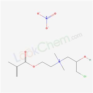 67596-04-7,(3-chloro-2-hydroxy-propyl)-dimethyl-[2-(2-methylprop-2-enoyloxy)ethyl]azanium nitrate,