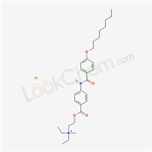 51476-03-0,Diethyl(2-hydroxyethyl)methylammonium bromide p-(p-(octyloxy)benzamido)benzoate (ester),