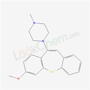 51723-78-5,Piperazine, 1-(7-methoxydibenzo(b,f)thiepin-10-yl)-4-methyl-,