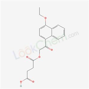 Molecular Structure of 60634-59-5 (SUCCINIC ACID, (4-ETHOXY-1-NAPTHYL-CARBONYLMETHYL) ESTER)