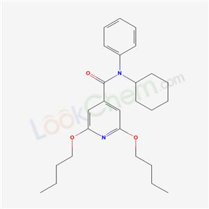 57803-49-3,4-Pyridinecarboxamide, 2,6-dibutoxy-N-cyclohexyl-N-phenyl-,
