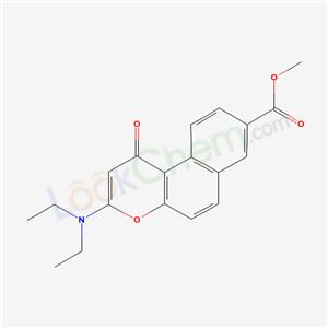 57944-52-2,1H-Naphtho(2,1-b)pyran-8-carboxylic acid, 3-(diethylamino)-1-oxo-, methyl ester,