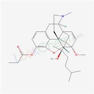 61521-77-5,6,14-Ethenomorphinan-7-methanol, alpha,17-dimethyl-4,5-epoxy-6-methoxy-alpha-(3-methylbutyl)-3-(1-oxopropoxy)-, (5-alpha,7-alpha(R))-,