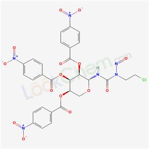 65222-25-5,N-(2-Chloroethyl)-N-nitroso-N-(2,3,4-tri-O-(4-nitrobenzoyl)-beta-D-ribopyranosyl)urea,