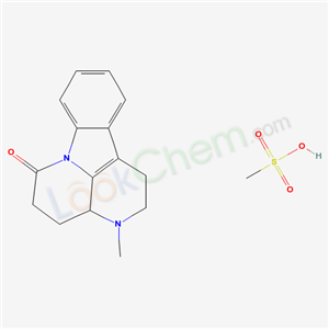 6H-Indolo(3,2,1-de)(1,5)naphthyridin-6-one, 1,2,3,3a,4,5-hexahydro-3-methyl-, monomethanesulfonate