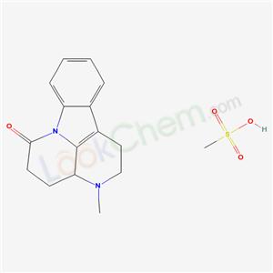 65284-88-0,6H-Indolo(3,2,1-de)(1,5)naphthyridin-6-one, 1,2,3,3a,4,5-hexahydro-3-methyl-, monomethanesulfonate,