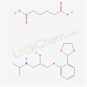 66287-62-5,2-Propanol, 1-(o-(1,3-dioxolan-2-yl)phenoxy)-3-isopropylamino-, adipate,