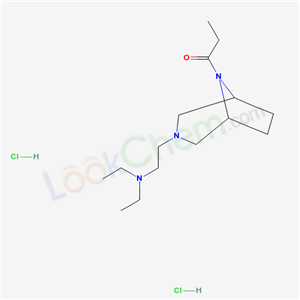 67196-22-9,3,8-Diazabicyclo(3.2.1)octane, 3-(2-diethylaminoethyl)-8-propionyl-, dihydrochloride,