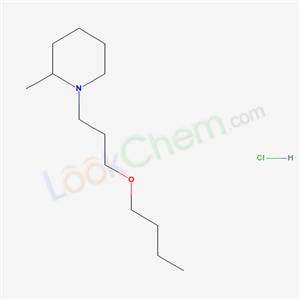67361-13-1,Piperidine, 1-(3-butoxypropyl)-2-methyl-, hydrochloride,