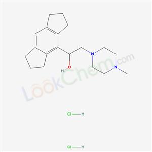 67367-91-3,1-Piperazineethanol, alpha-(1,2,3,5,6,7-hexahydro-s-indacen-4-yl)-4-methyl-, hydrochloride, hydrate (2:4:1),
