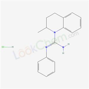 68339-71-9,1(2H)-Quinolinecarboximidamide, 3,4-dihydro-2-methyl-N-phenyl-, monohydrochloride,