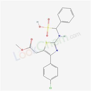 71013-57-5,2-Benzyl-amino-alpha-sulpho-4-p-chlorophenylthiazole-5-acetic acid methyl ester,