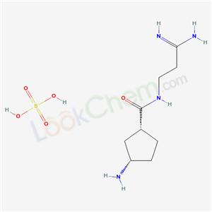 74984-58-0,cis-3-Amino-N-(3-amino-3-iminopropyl)cyclopentanecarboxamide sulfate (1:1),