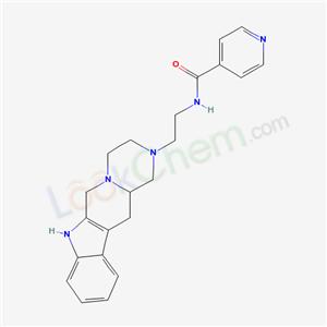 75144-39-7,4-Pyridinecarboxamide, N-(2-(3,4,6,7,12,12a-hexahydropyrazino(1,2:1,6)pyrido(3,4-b)indol-2(1H)-yl)ethyl)-,