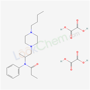 77562-98-2,N-(1-Methyl-2-(4-n-butylpiperazino)ethyl)propionanilide dioxalate,