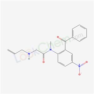 80166-46-7,N-(2-Benzoyl-4-nitrophenyl)-N-methyl-2-(2-propenylamino)acetamide,