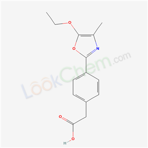 80589-79-3,Benzeneacetic acid, 4-(5-ethoxy-4-methyl-2-oxazolyl)-,